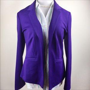 Royal purple buttonless blazer